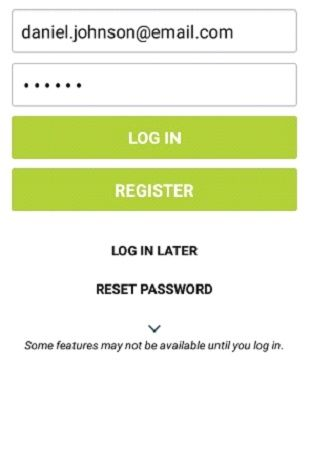 Login screen on your community access app